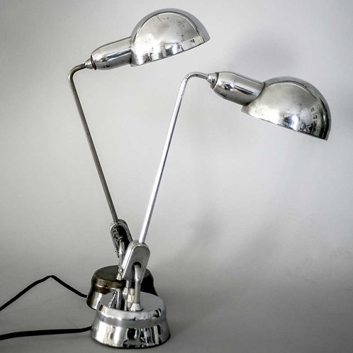 Pair of French modernist Jumo desk lamp attributed to Perriand