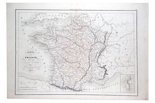 Antique French  Engraving Felix  Delamarche Francea 1838