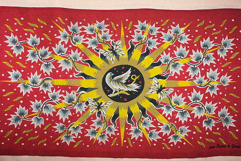 FRENCH TAPESTRY JEAN PICART LEDOUX MODERNIST Soleil d'ete