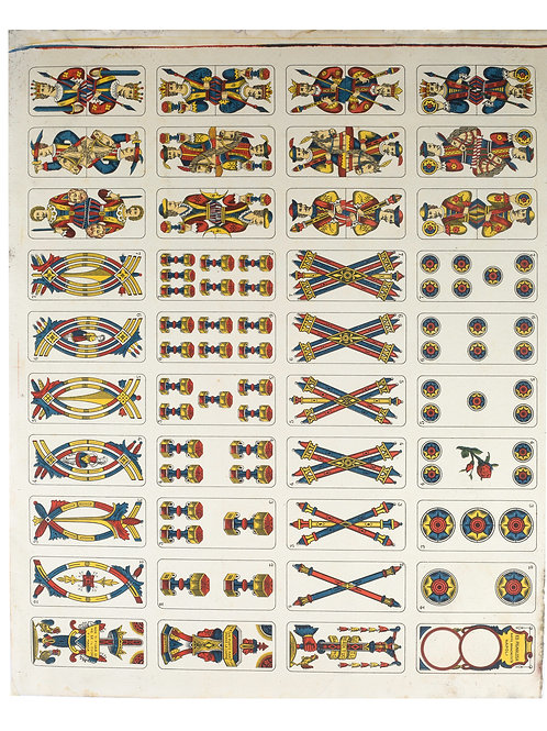 VINTAGE UNCUT ITALIAN PLAYING CARDS  PIGNALOSA NAPOLI