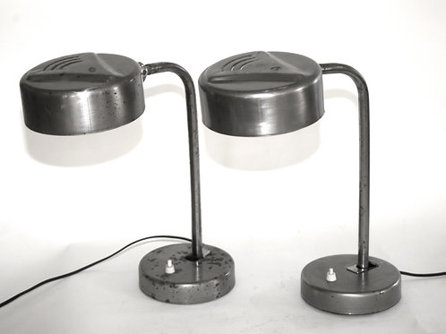 Kaiser Idell Style BAHAUS PAIR OF INDUSTRIAL TASK LAMP