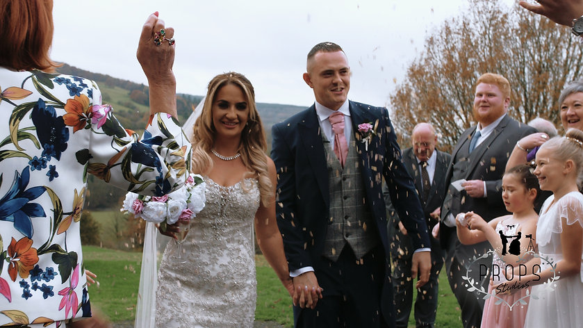 confetti shot, wedding venue brecon, brecon wedding videographer, cardiff wedding videographer