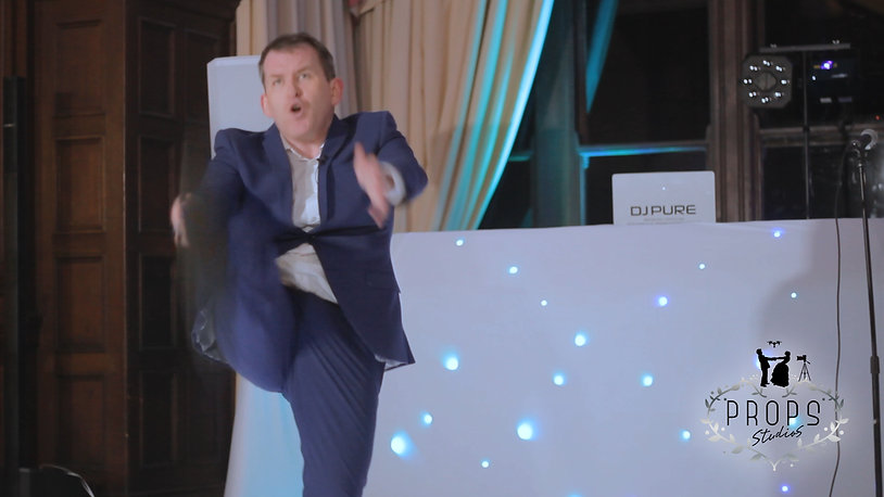 Lee Evans Impersonator Ian Jones, wedding videographer Brecon
