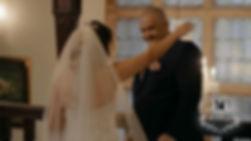 first look with dad, bridgend wedding videgapher, cardiff wedding videographer, swansea wedding videographer