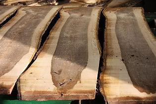 Walnuss Schnittholz Holzplatte Holzlager