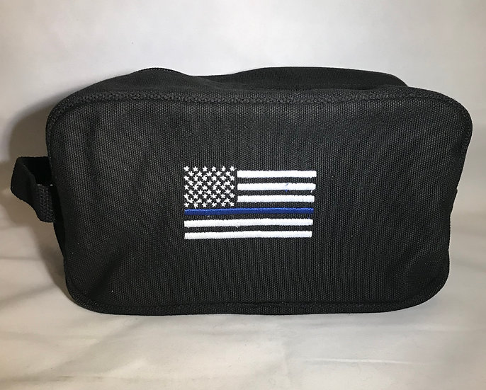 Thin Blue Line Flag Canvas Travel Kit