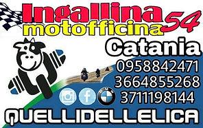Biglietto ufficiale Ingallina officina catania e provicia