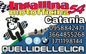 Biglietto ufficiale Ingallina officina cataia e provicia