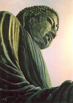 Peace Buddha - - oil on canvas - 1.8m x 1.2m - LR