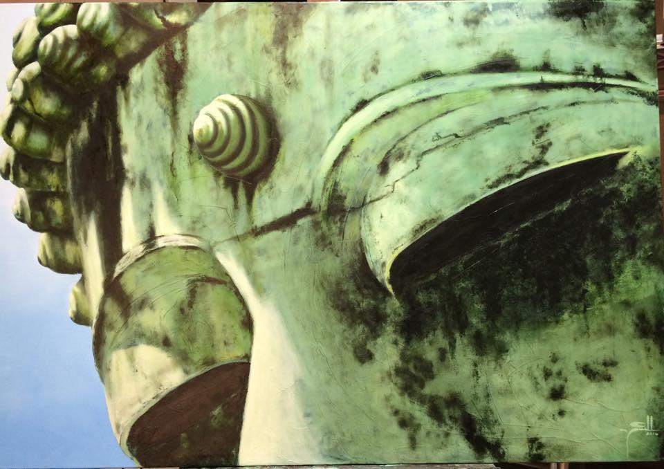 Buddha's Eyes - oil on canvas - 1.3m x 1.6m