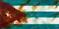 Cuba -mixed rust medium and acrylic on canvas 1m x 2m LR