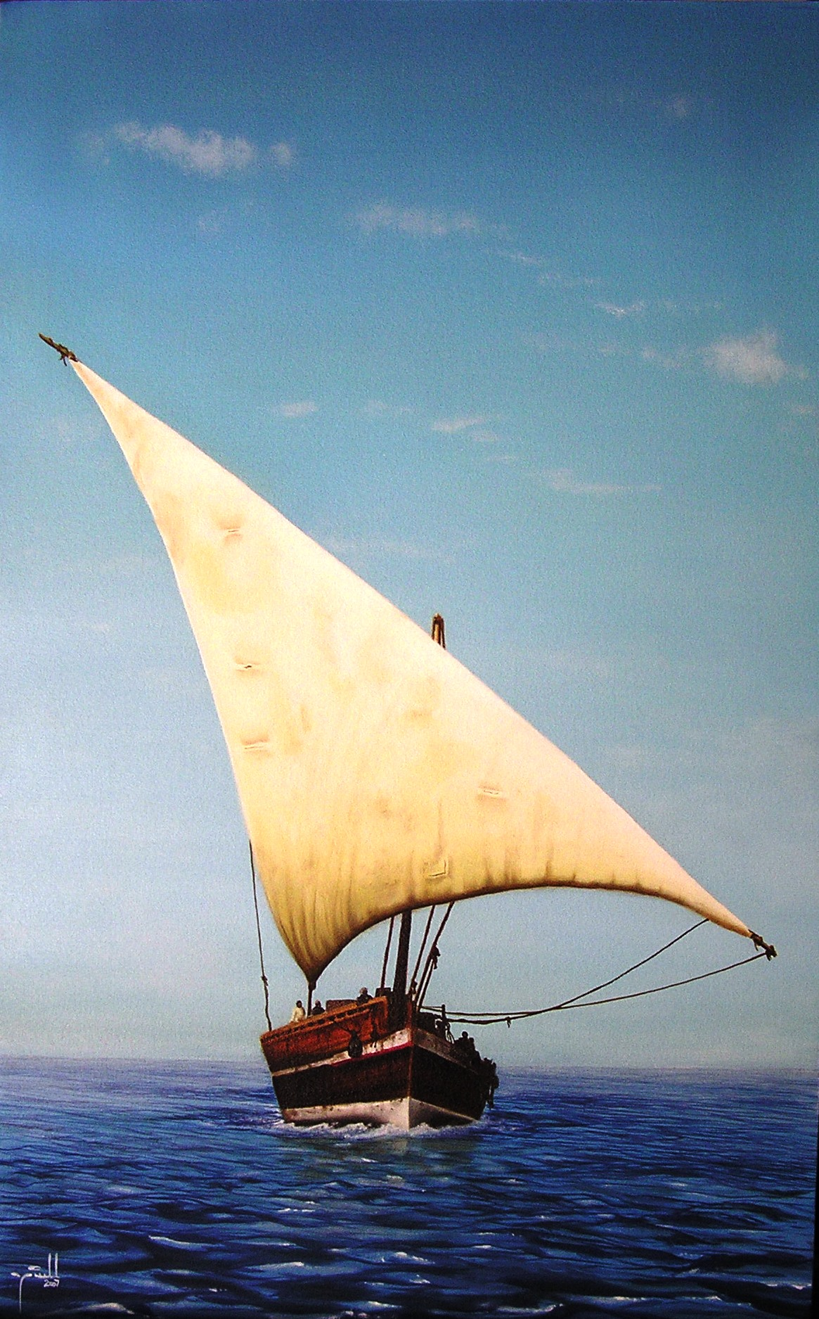 Dhow- oil on canvas 80cm x 100cm