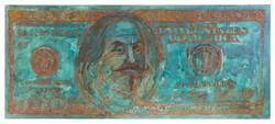 100$ 2016 - rust on canvas 1.32m x 3.12m