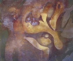 Tiger Eye - mixed rust medium on canvas - 1.2m x 1.5m