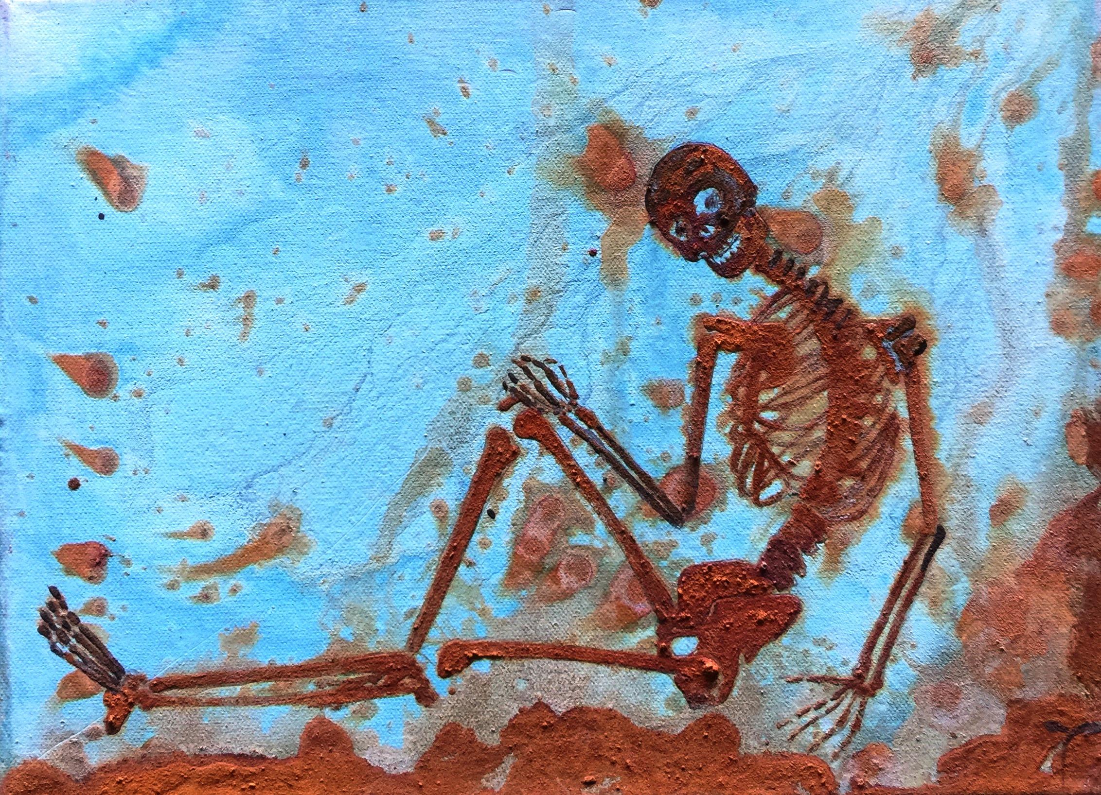 Pretty Lady 3 - mixed rust on canvas - 40cm x 30cm