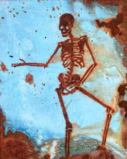 Michael Jackson - mixed rust on canvas - 40cm x 30cm