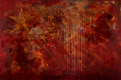 China -mixed rust medium and acrylic on canvas 1.2m x 1.8m LR