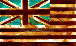 Striped Jack-mixed rust medium and acrylic on canvas 50cm x 70cm  HHR