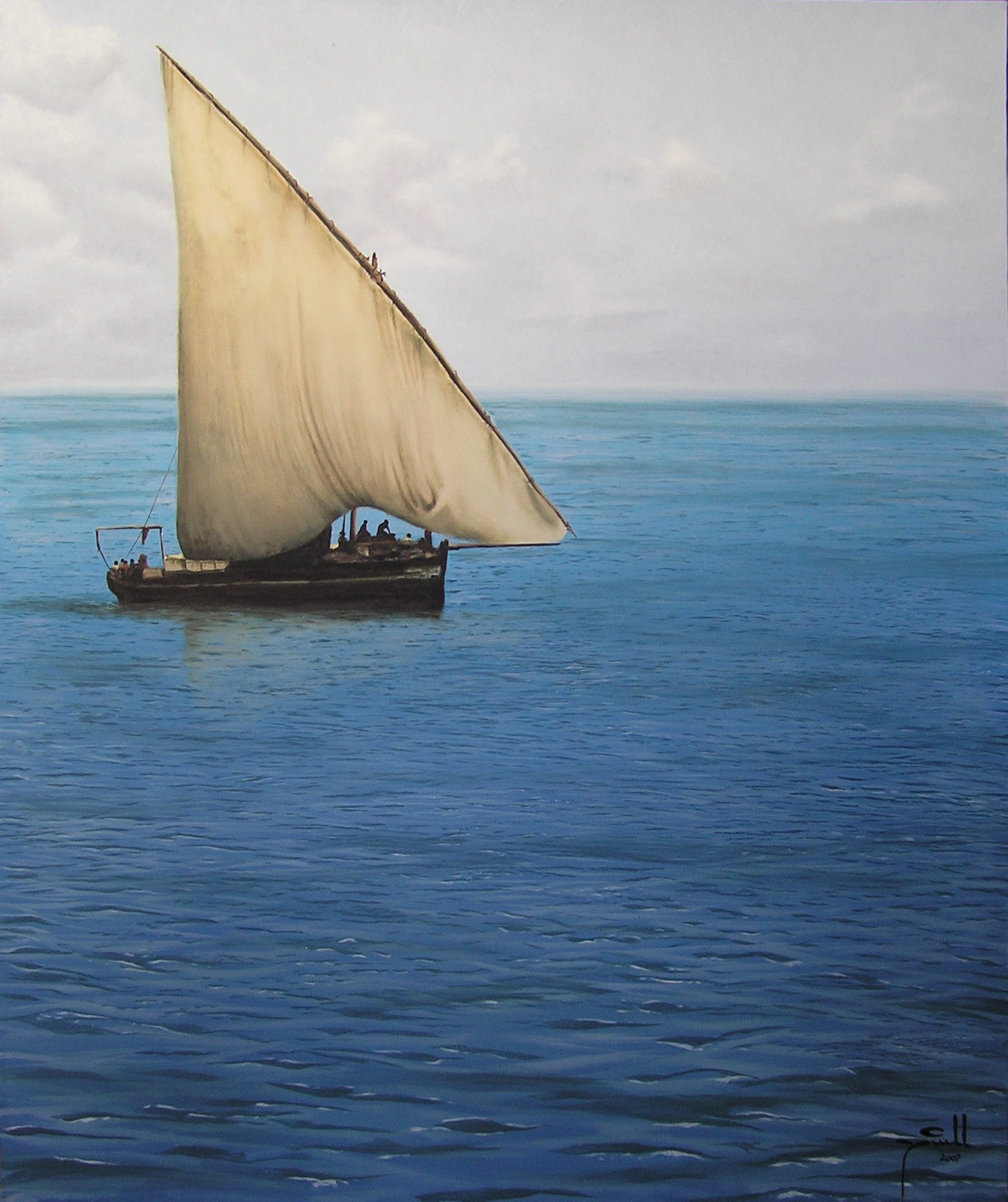 Alan's Dhow - oil on canvas - 80cm x 100xm