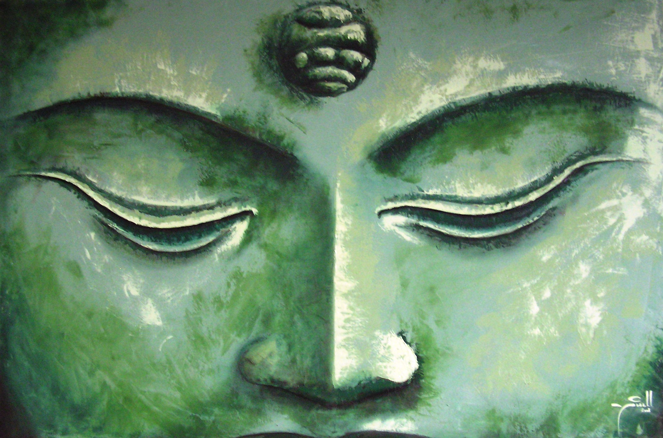 Jade Buddha - - oil on canvas - 1.2m x 1.5m HR