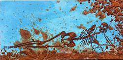 Pretty Lady 2 -mixed rust on canvas - 30cm x 50cm