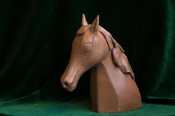 Tête cheval façon cuir