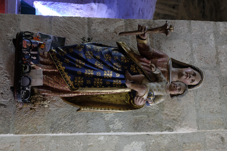 sculpture polychrome du XVI s