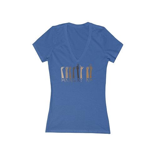 Hangry AF Sign Women's Short Sleeve Deep V-Neck Tee