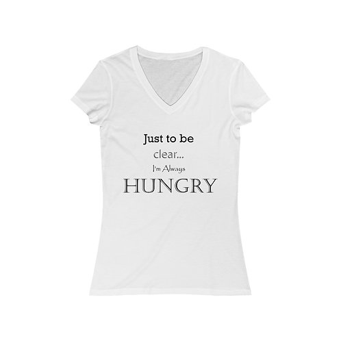 Just To Be Clear Women's Jersey Short Sleeve V-Neck Tee