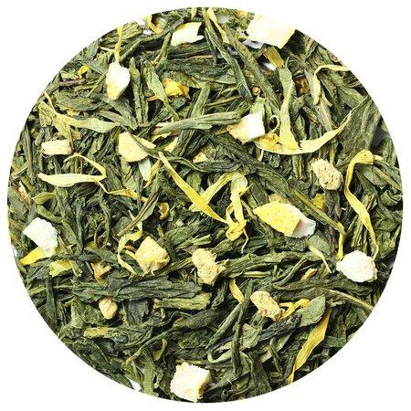 Чай зелёный Лимон с имбирем, 100 грамм