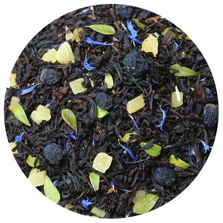 Чай чёрный Черника в йогурте, 100 грамм