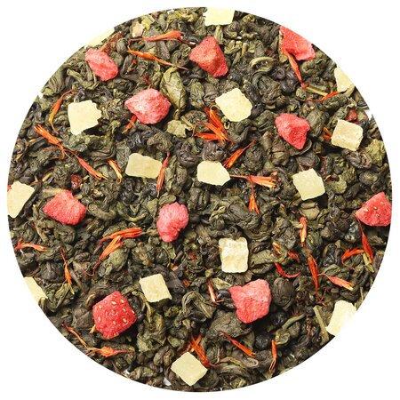Чай зелёный Земляника со сливками, 100 грамм