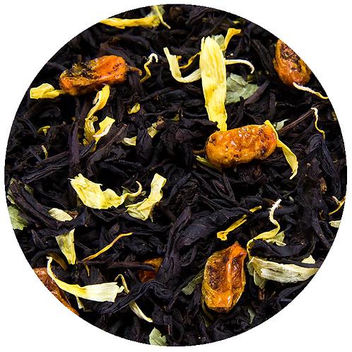 Чай чёрный с облепихой, 100 грамм