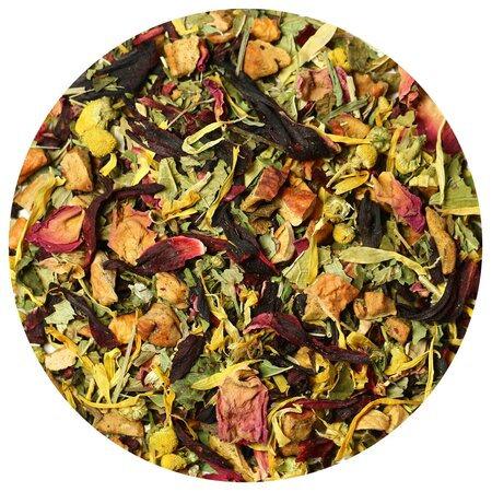 Чай травяной Малина с мятой, 100 грамм