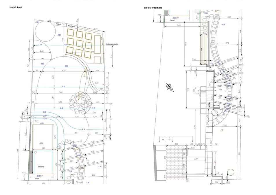 Kitűzési és tereprendezési terv
