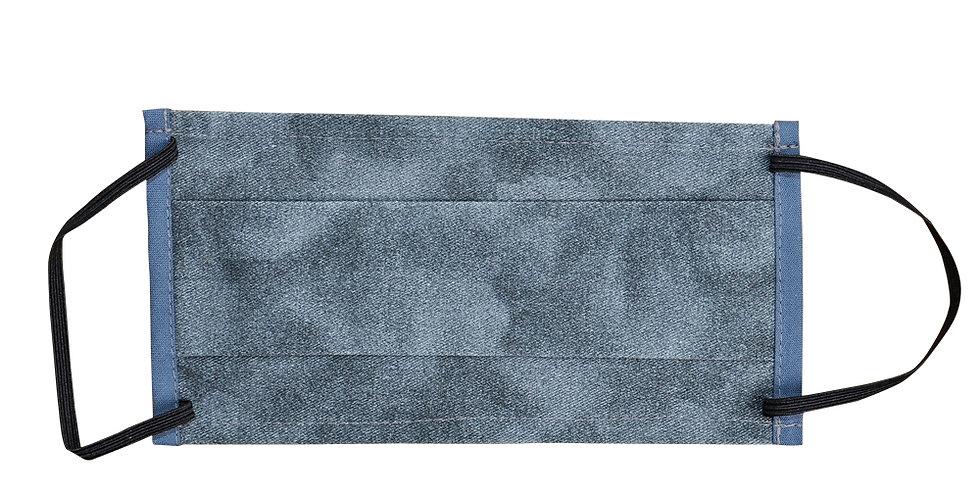 Mundnasenmaske mit Gummiohrschlaufe in Jeansoptik