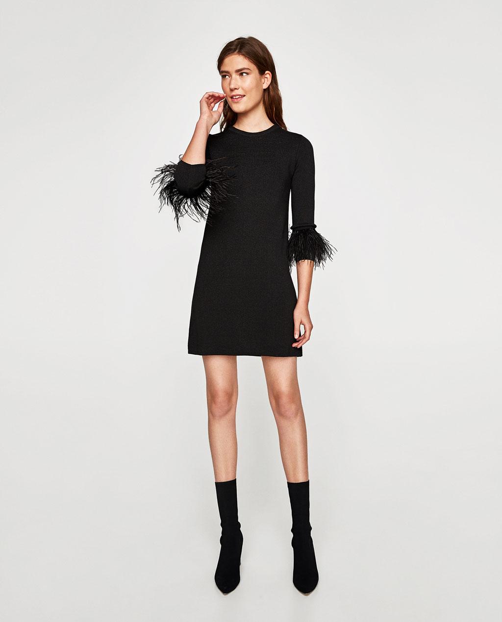Feathers dress Zara