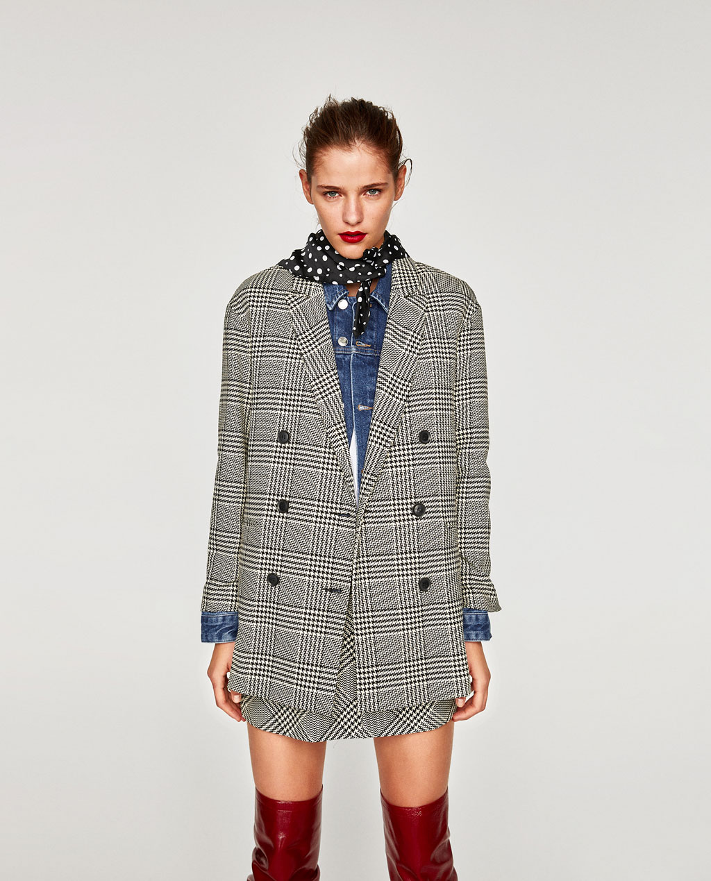 Check blazer Zara