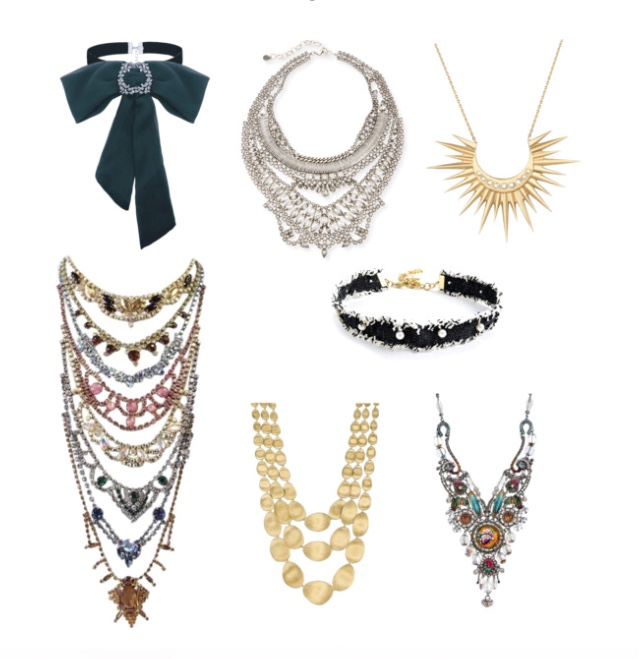 Statement necklaces and chokers