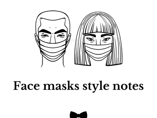 Stylish face mask - personal stylist recommends.