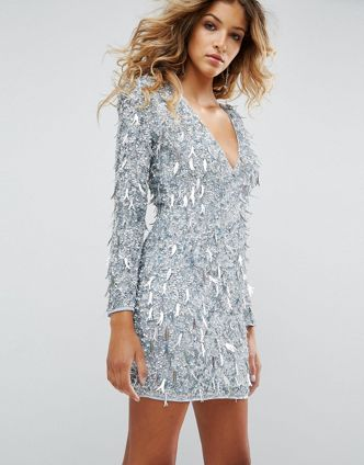 Asos Fringe Dress sequins 8354408