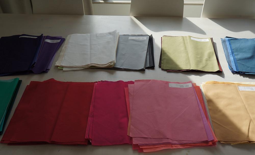 Setting up - colour drapes