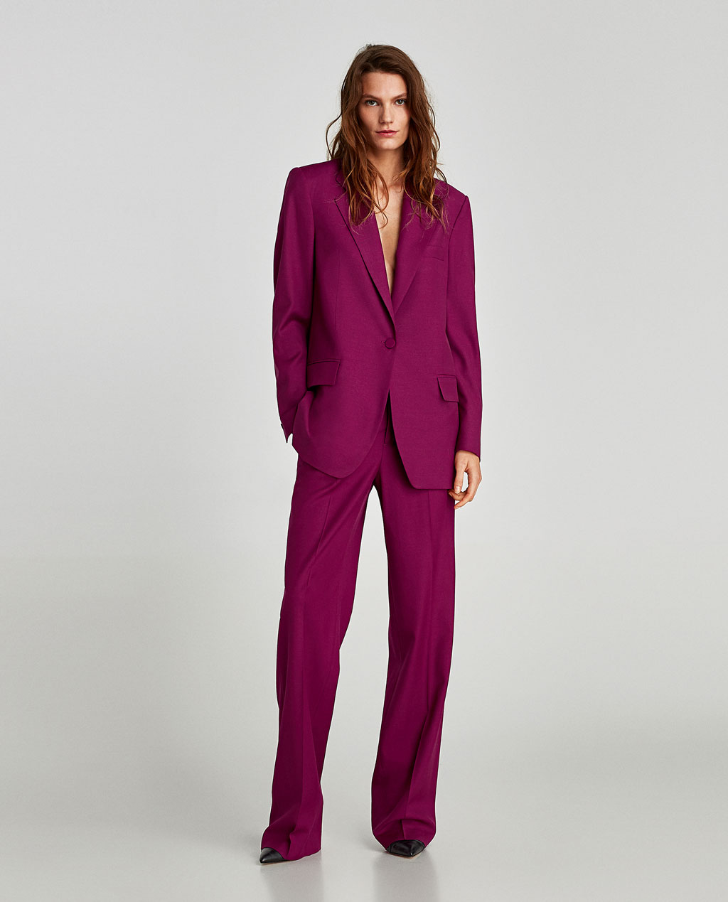 Zara purple suit