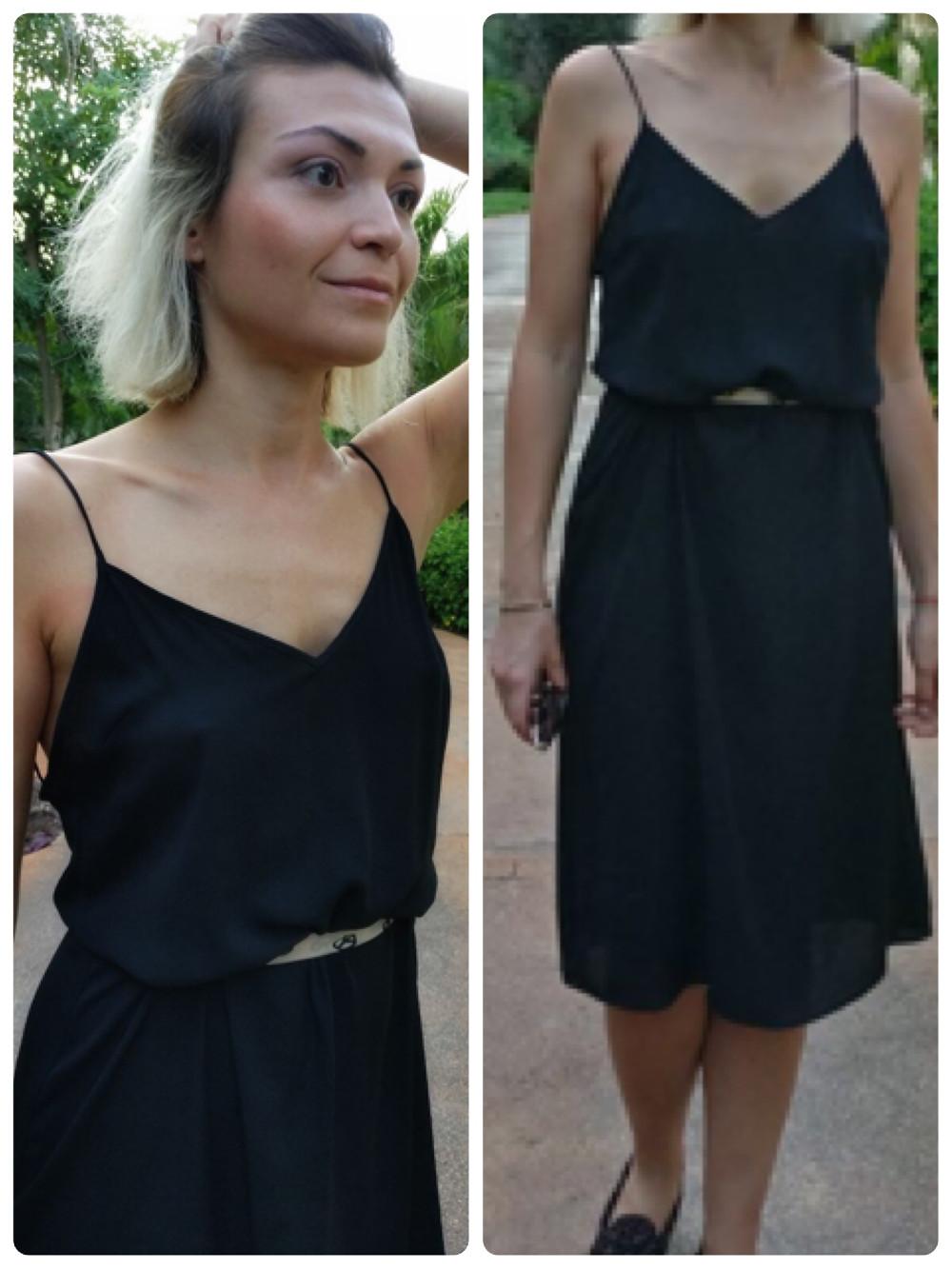Dress: Mango Belt/Scarf: Moschino Shoes: Tods