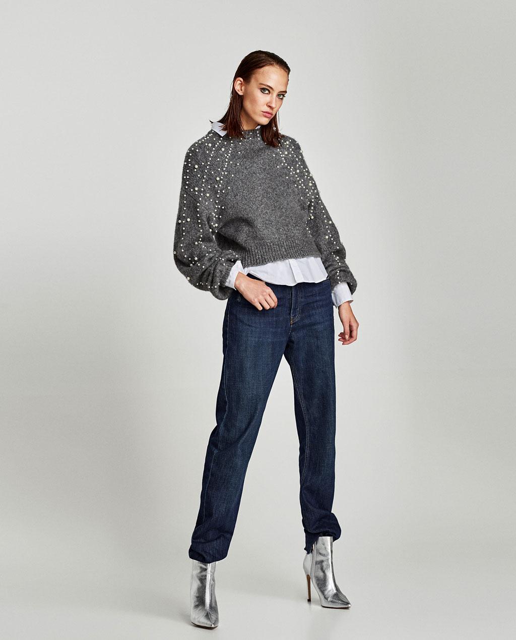 Pearls sweater Zara