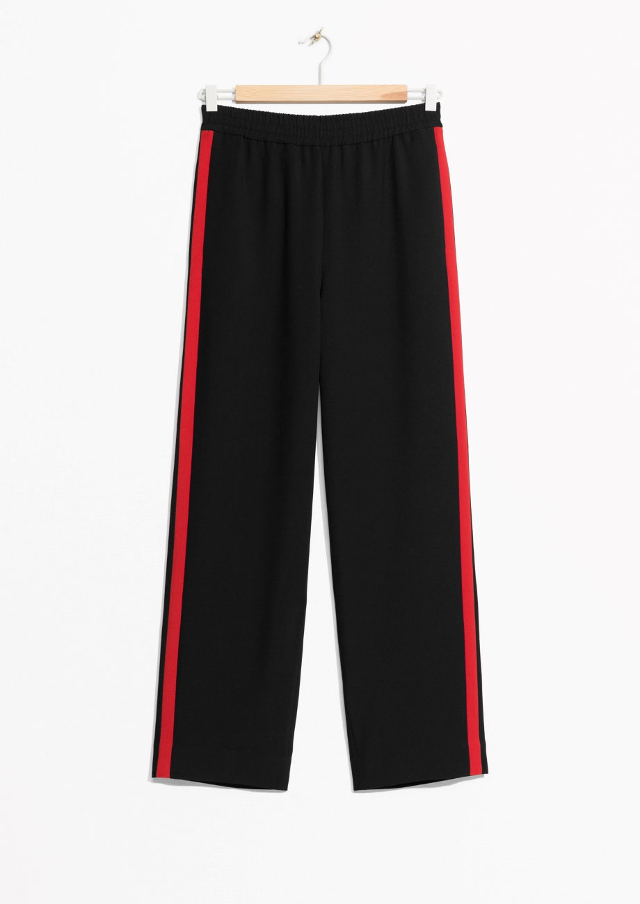 Red panel trousers &other stories