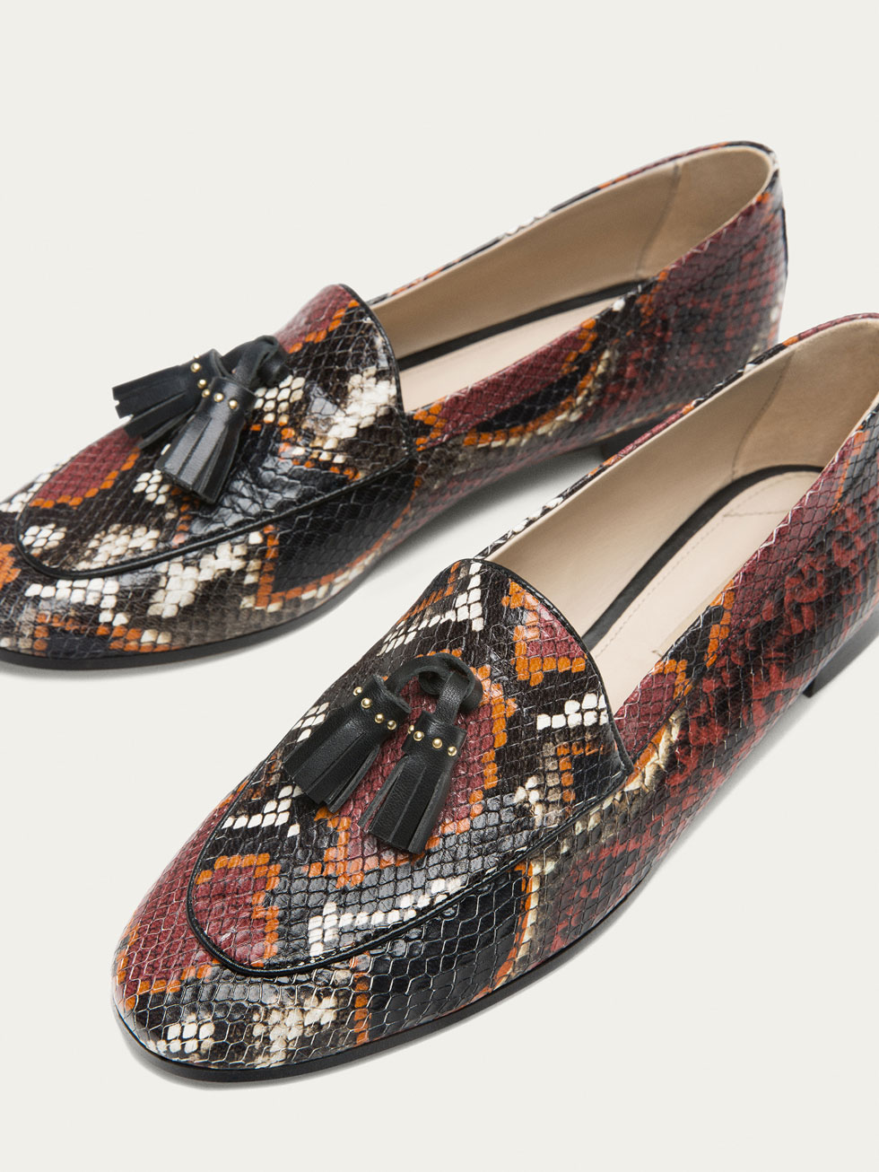 Animal print loafers Uterque