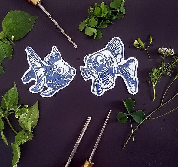 Goldfish Love Magnets