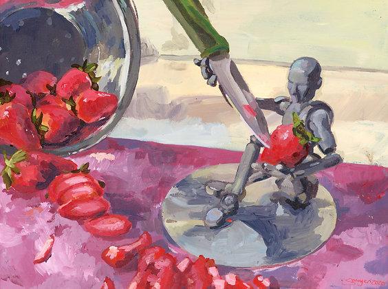 Joey Chops Strawberries