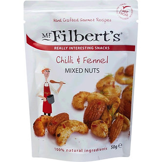 Chilli & Fennel Mixed Nuts Mr. Filberts 50g